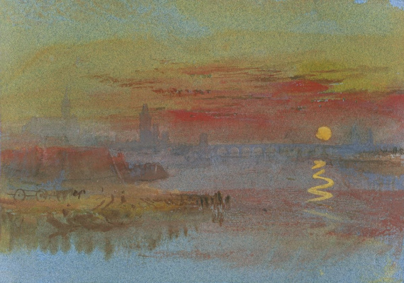 Joseph Mallord William Turner. Scarlet sunset