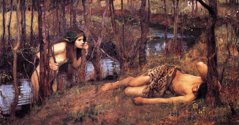 John William Waterhouse. The Naiad (Hylas and the nymph)