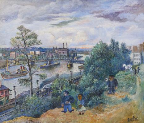 David Davidovich Burliuk. The Hudson River