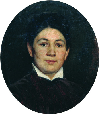 Nikolay Aleksandrovich Yaroshenko. Portrait of Maria Pavlovna Yaroshenko, the wife of the artist. 1880s