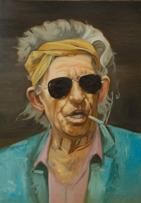 "Alexander Giza-Ciobanu. A Portrait Of ""Keith Richards"""