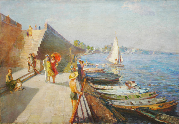 Nikolay Petrovich Glushchenko. Sunday afternoon on the river