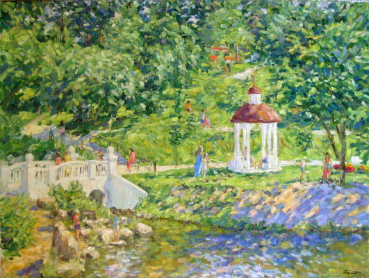 Urii Parchaikin. Near the pond