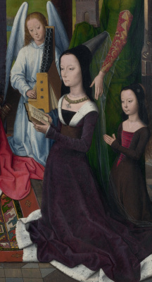 Hans Memling. Madonna and child with saints and donators. Triptych Donna. The Central part. Fragment