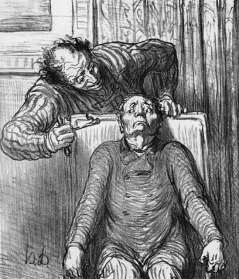 Honore Daumier. Dentist