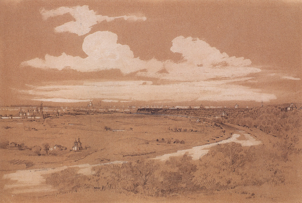 Alexey The Kondratyevich Savrasov. View of Moscow from Sparrow hills