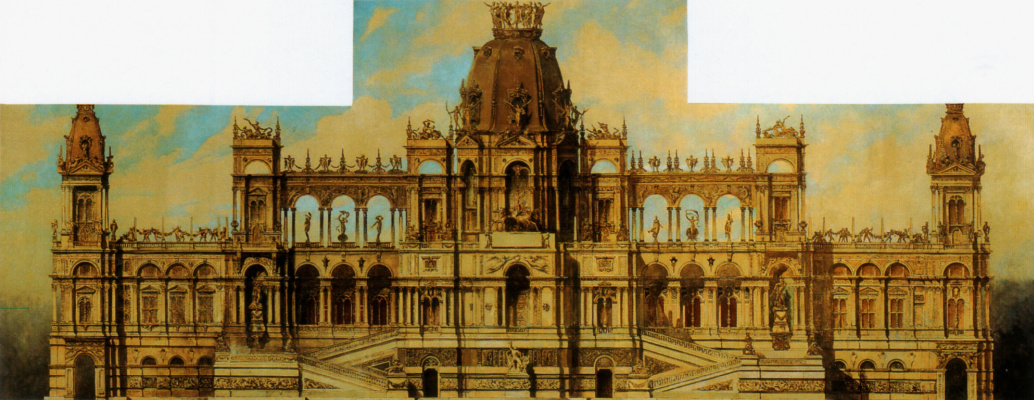 Hans Makart. The facade of the Palace