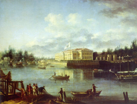 Semen Fedorovich Shchedrin. View of the Kamennoostrovsky Palace through the Great Nevka from the Stroganov embankment