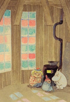 "Tove Jansson. Illustration for the story ""The Magic Winter"" by T. Jansson"