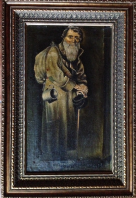 """Lukian Vasilyevich Popov. Student copy of painting """"the wanderer"""" (V. G Perov)"""