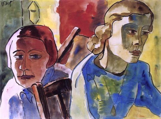 Karl Schmidt-Rottluff. Two women