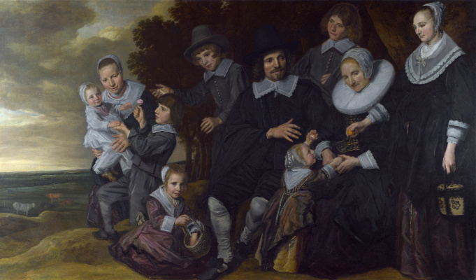 France Hals. Family group portrait in a landscape