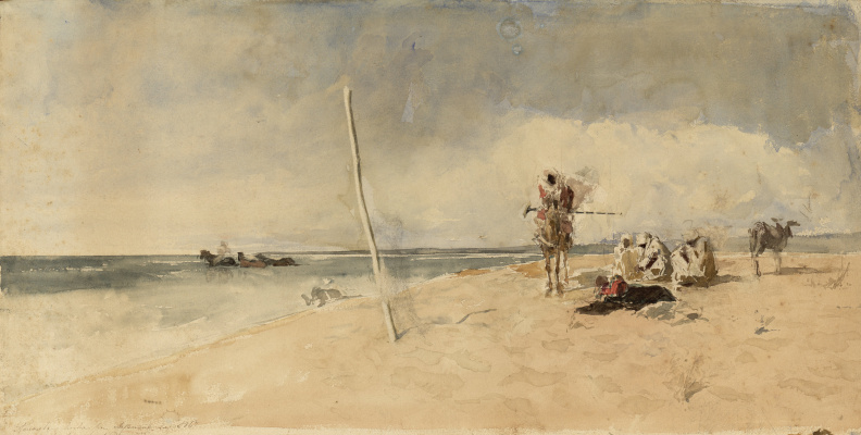 Mariano Fortuni-i-Carbo. African beach