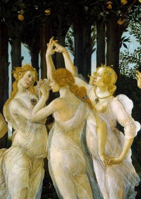 Sandro Botticelli. Spring (Primavera). Detail: The Three Graces
