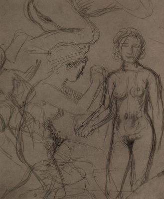 Hans von Mare. The sketches of Nude figures