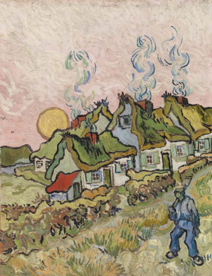 Vincent van Gogh. The house at sunset (memories of Brabant)