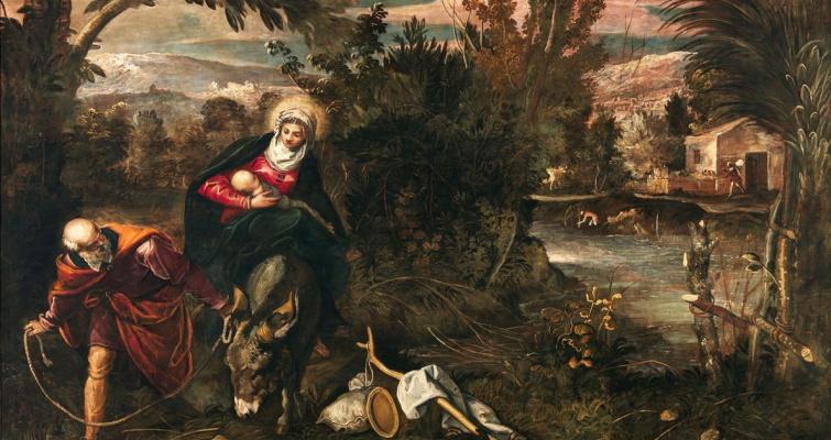 Jacopo (Robusti) Tintoretto. Escape to Egypt