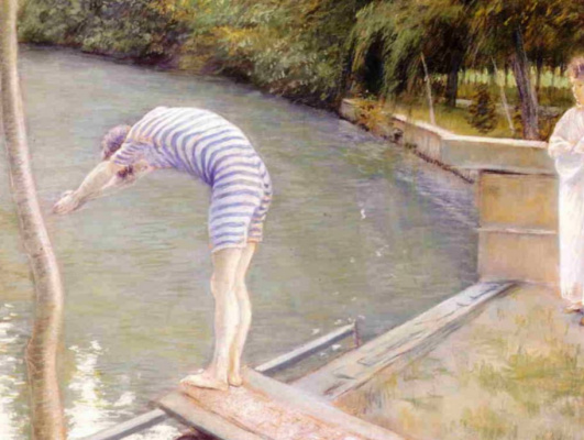 Gustave Caillebotte. Bathers. The river Hierro.