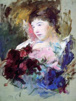 Mary Cassatt. Girl with a bouquet