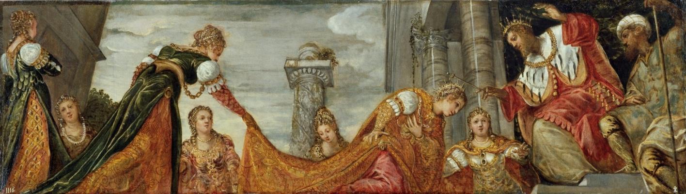 Jacopo (Robusti) Tintoretto. Esther before Artaxerxes