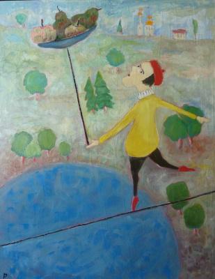 Svyatoslav Ryabkin. Clown acrobat clown acrobat