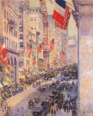 "Childe Hassam. From the Avenue to thirty-fourth street (a series of ""Flags"")"
