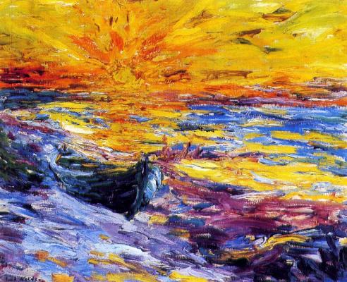 Emil Nolde. Sunset