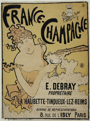 """The advertising of the brand """"France-champagne"""""""