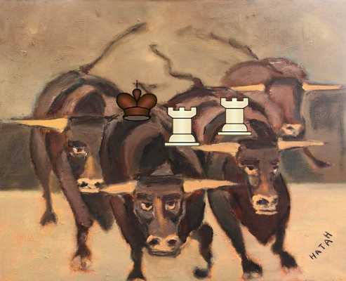 Nathan Gallery. Checkmate - Life is like a game Chess Field - Bulls Spin