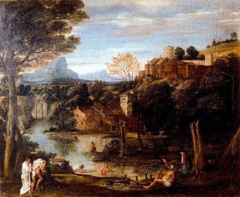 Annibale Carracci. Bathing