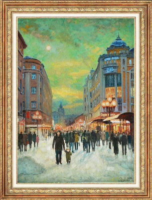 Igor Razzhivin. Lamps on the Arbat
