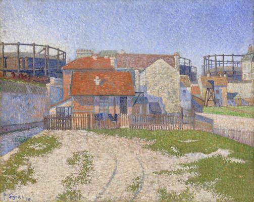 Paul Signac France 1863 - 1935. Gas Station in Clichy-la-Garenn