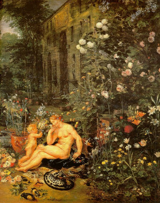 Jan Bruegel The Elder. The sense of smell. Fragment