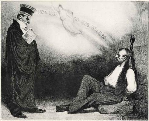 Honore Daumier. Modern Galileo