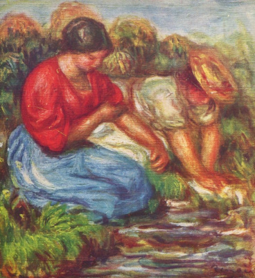 Pierre-Auguste Renoir. Laundress