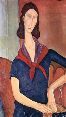 Амедео Модильяни. Девушка с красной косынкой