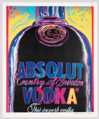 Andy Warhol. Absolut Vodka