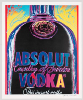 Andy Warhol. Absolut Vodka