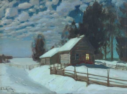 Stanislav Yulianovich Zhukovsky. Winter evening