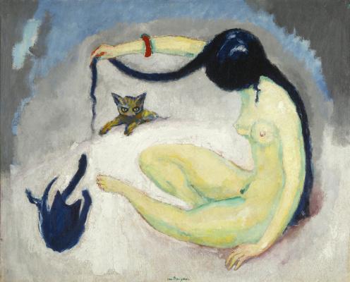 Kees Van Dongen. Woman with cats. 1912