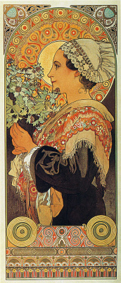 Alfons Mucha. Thistle from the Sands