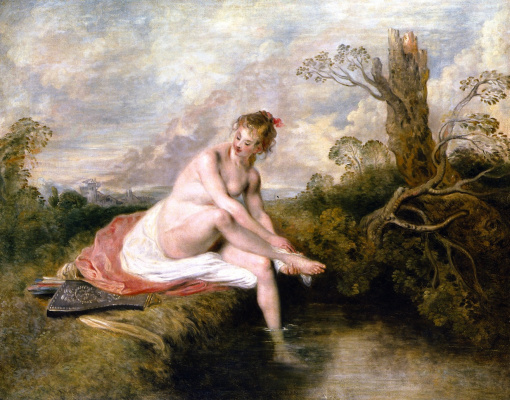 Antoine Watteau. Bathing Diana