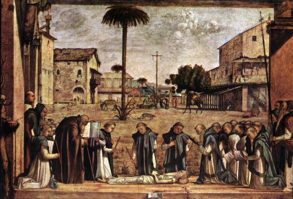 Vittore Carpaccio. The funeral of St. Jerome