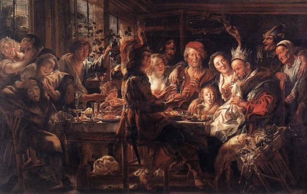 Jakob Jordaens. Feast of the bean king
