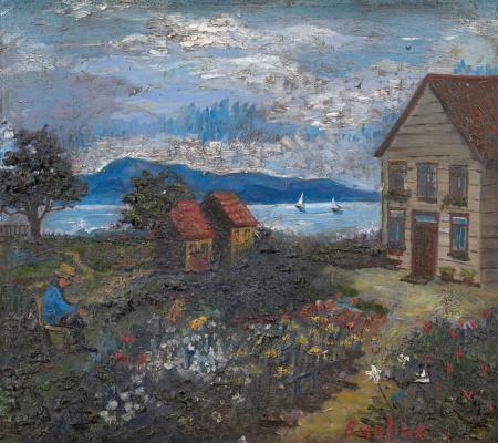 David Davidovich Burliuk. The lake house