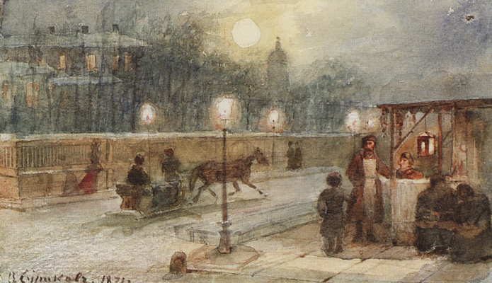 Vasily Ivanovich Surikov. Evening in St. Petersburg