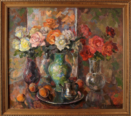 Nadezhda Alekseevna Vinogradova. Roses and Peaches