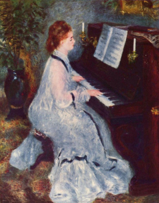 Pierre-Auguste Renoir. The woman at the piano