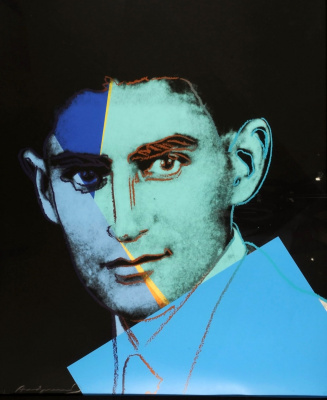 "Andy Warhol. Portrait of Franz Kafka in a series of ""Ten famous Jews of the twentieth century"""