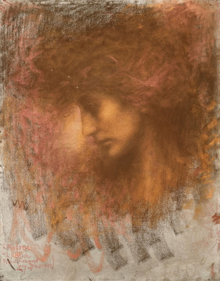 Lucien Levi-Durme. Profile of a young woman.